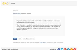 Notification par mail listant les gens qui aiment ton commentaire eXo Platform 5.0
