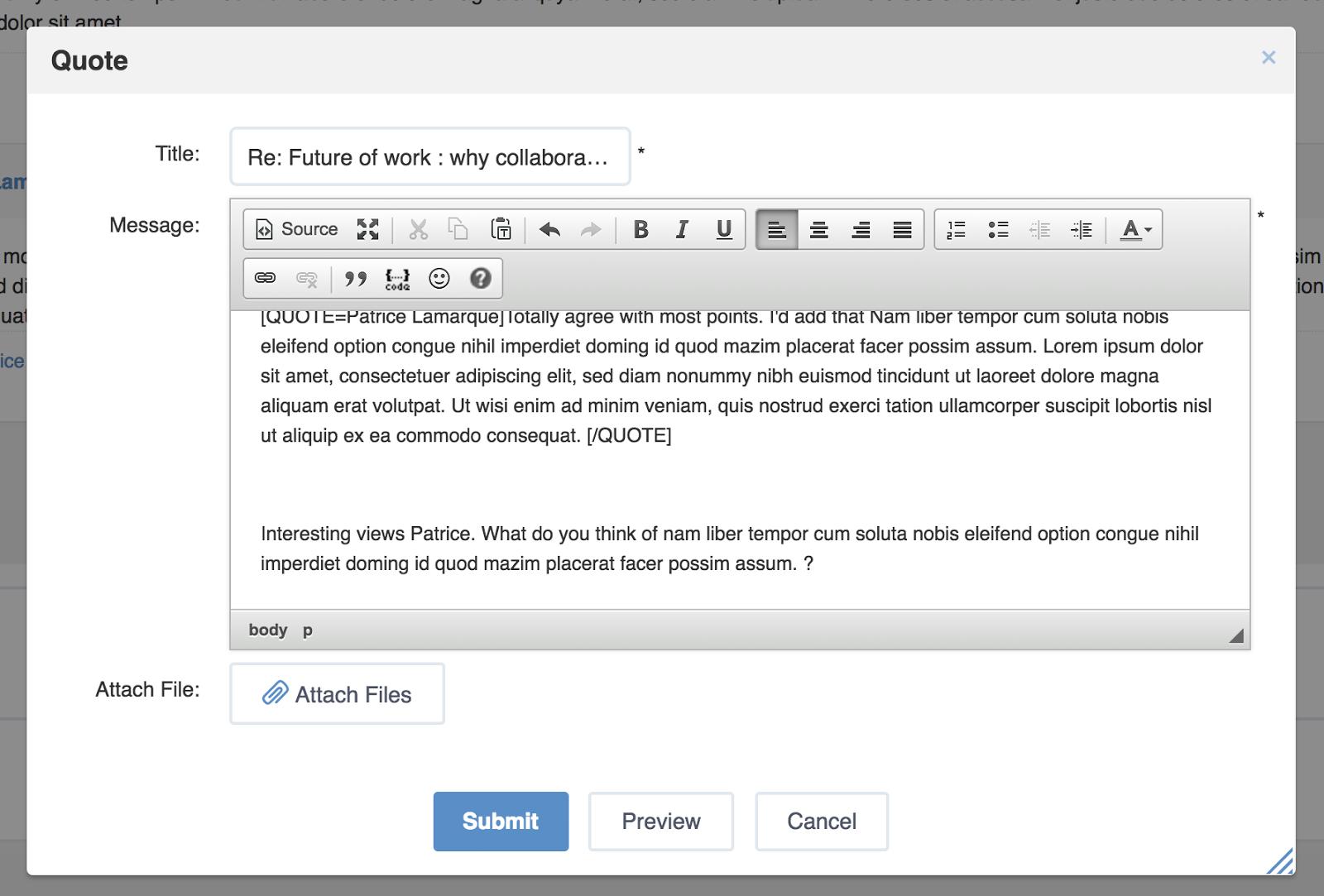 Citer un post dans eXo Platform 5.0