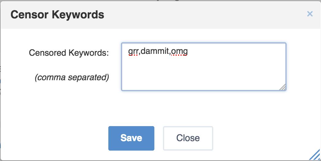 forbidden keywords in eXo Platform