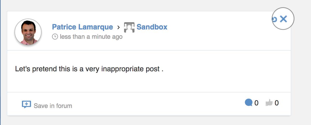 deleting posts in eXo Platform