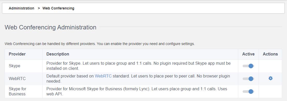 Web conferncing eXo Platform