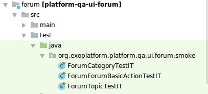 Tests Smoke sous le module Forum