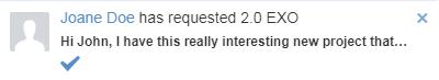 Get a notification eXo Wallet