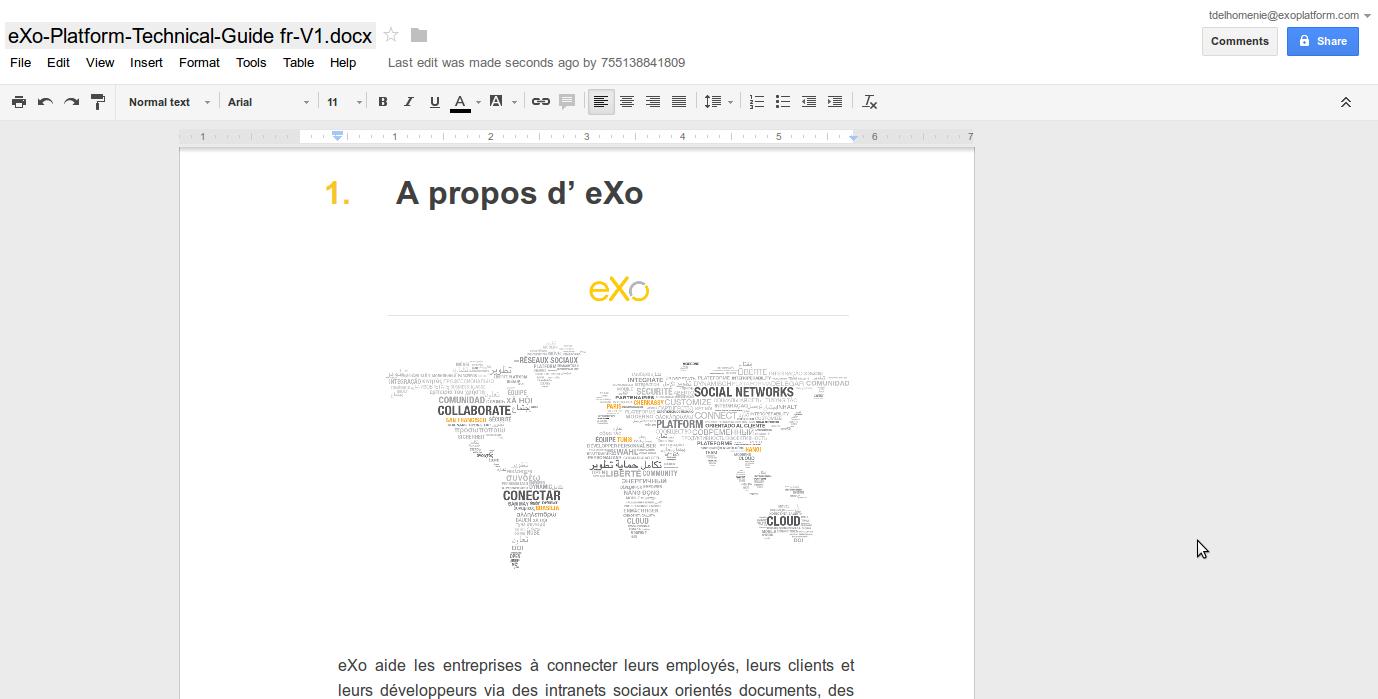 Edit in Google Docs