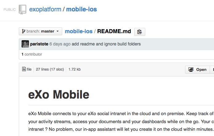 eXo-Mobile-App-on-GitHub