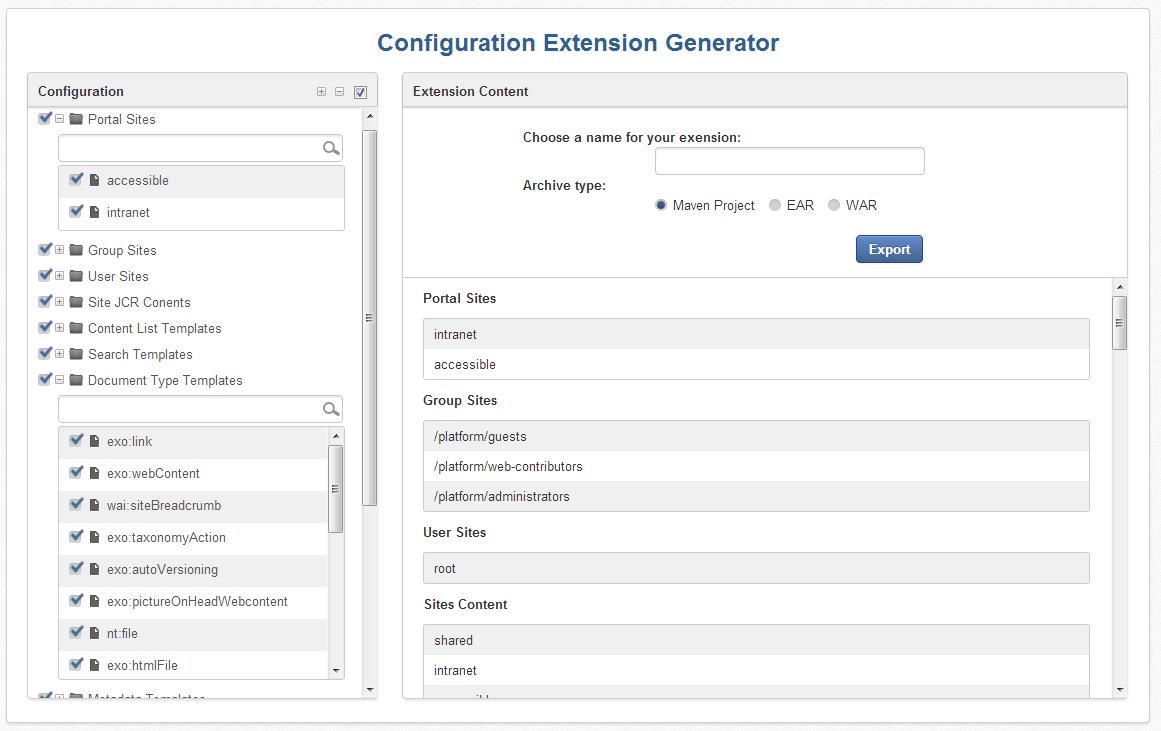 Extension-Generator
