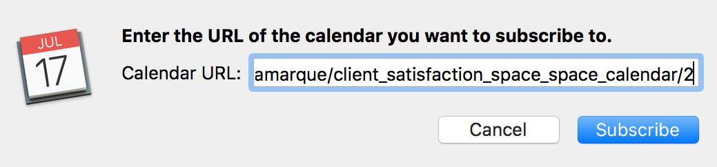 eXo Calendar feed URL