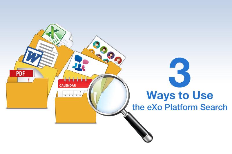 Ways to search in eXo Platform