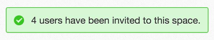 eXo space members invitation sent