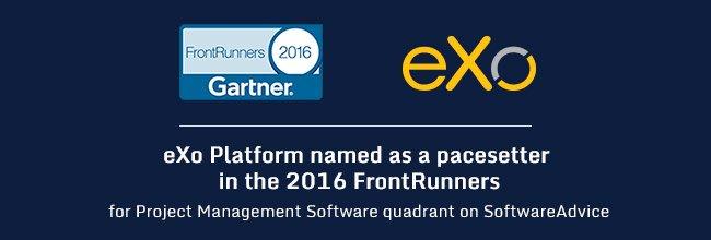 eXo as 2016 FrontRunners for Project Management quarter Gartner