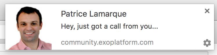 eXo desktop notifications