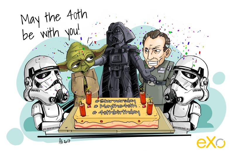Que les 40 ans de la Saga Star Wars soient avec vous