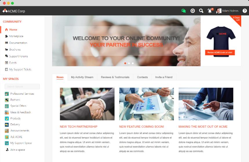 exo platform comme portail partenaire