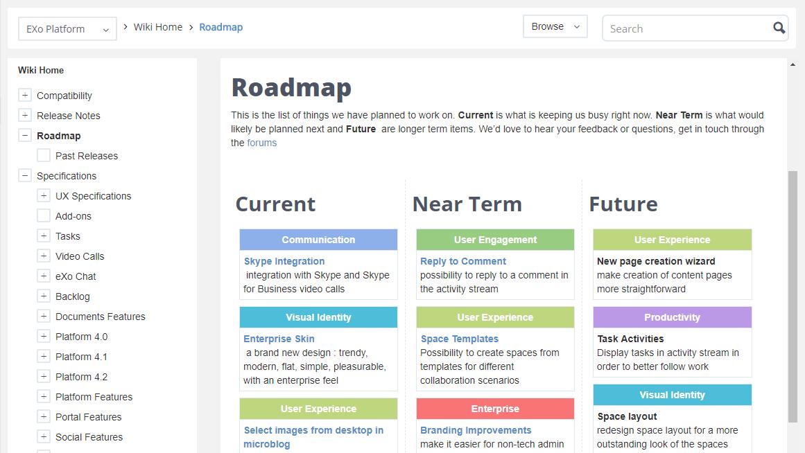 feuille de route logiciel communautaire en ligne