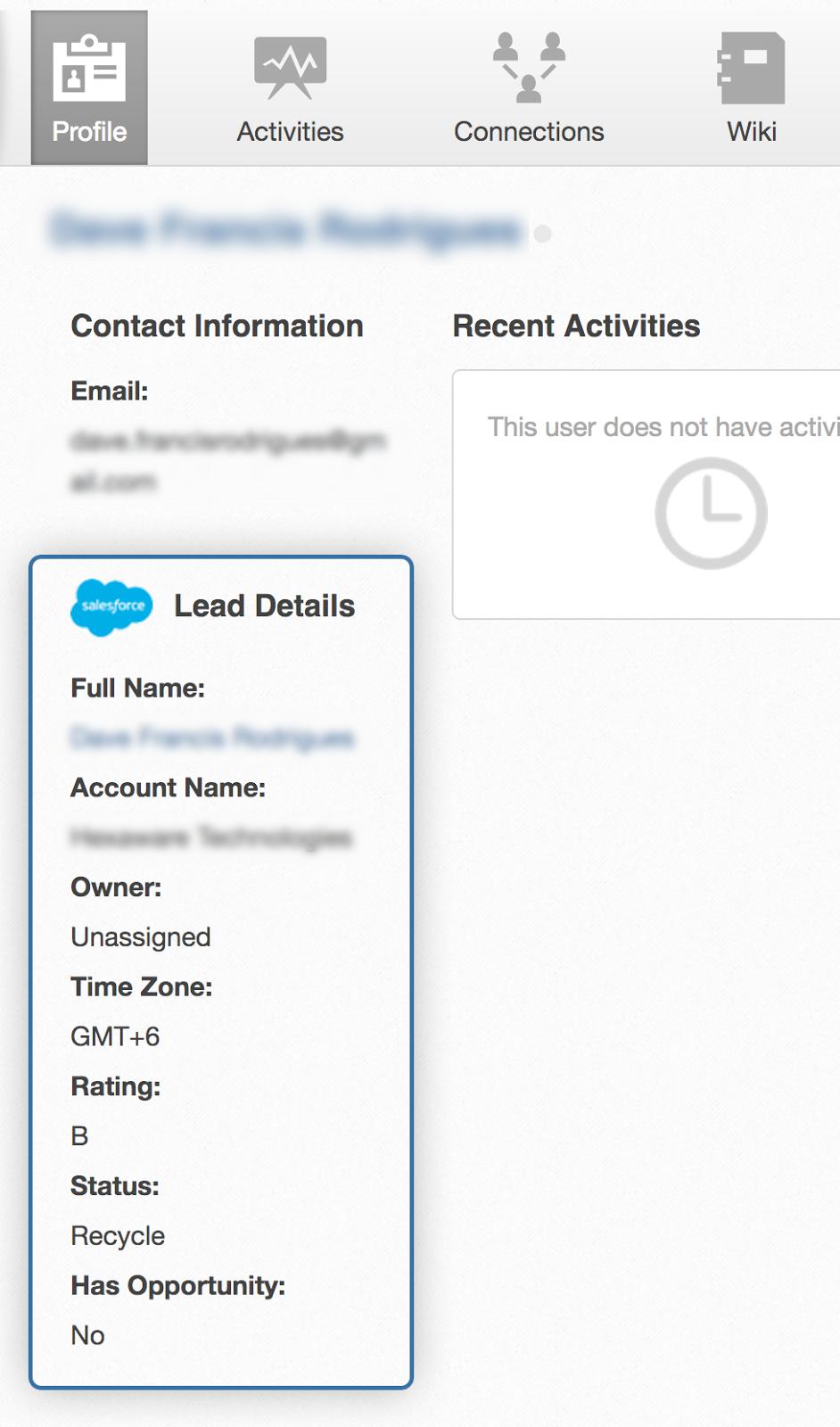 salesforce integration in eXo Platform community edition