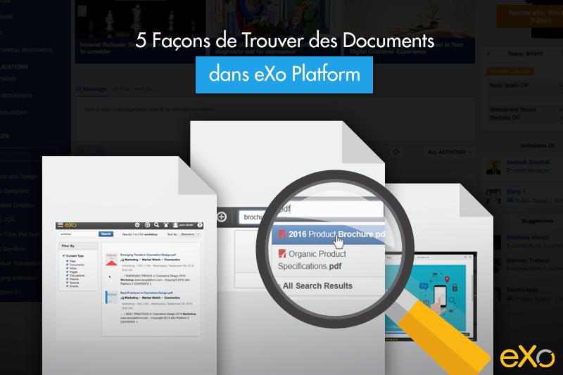 Trouver des Documents dans eXo Platform