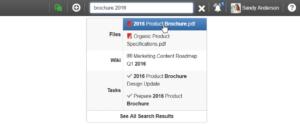 recherche rapide des documents eXo par nom