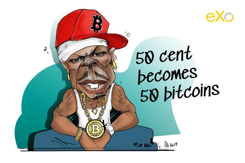 50 Cent, bitcoin