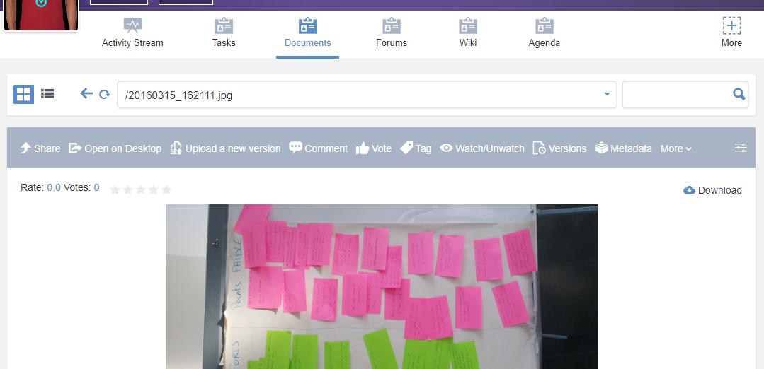 eXo Platform : Documents app space