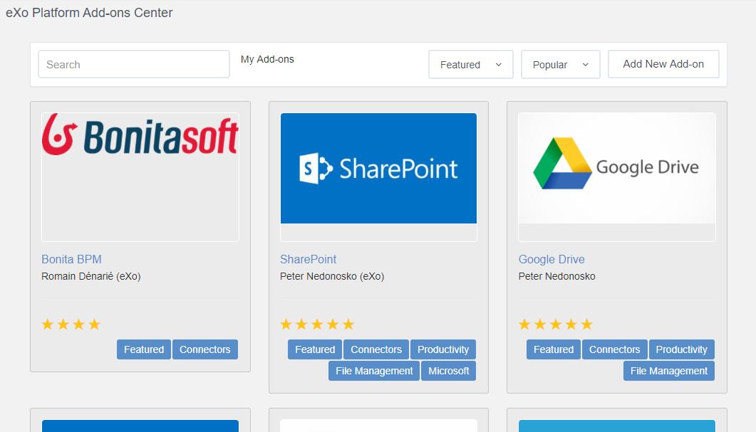 eXo Platform : new add-on development
