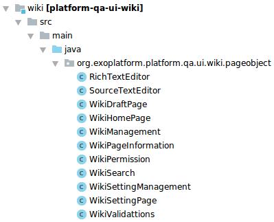 Les fonctions utilisées pour les cas de tests wiki
