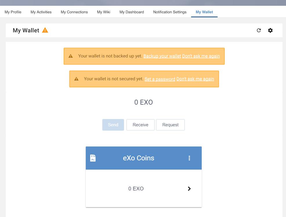 Install new eXo Wallet