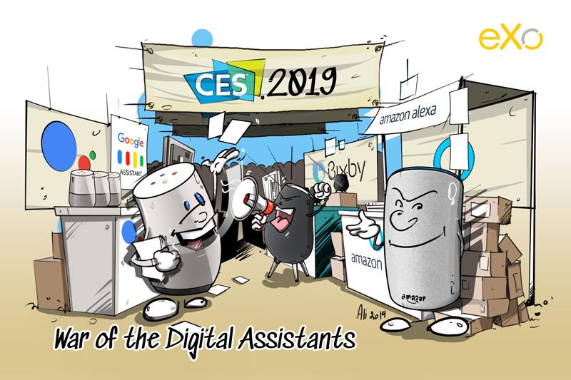 CES 2019, digital assistants