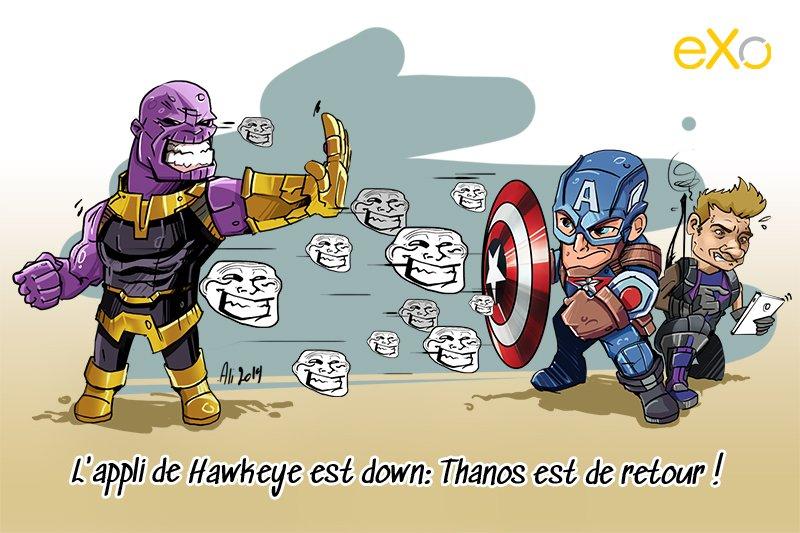 L'appli de Hawkeye est down: Thanos est de retour