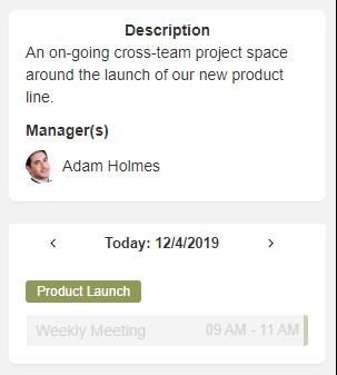 Space widgets managers list eXo Platform 5.3