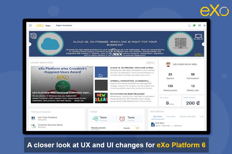 UX and UI, eXo Platform 6