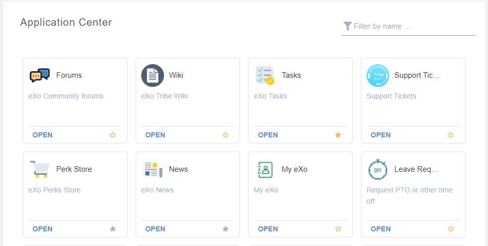 Group App center eXo Platform 6