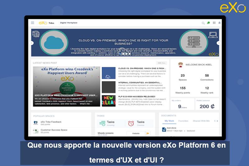 UX et UI, eXo Platform 6