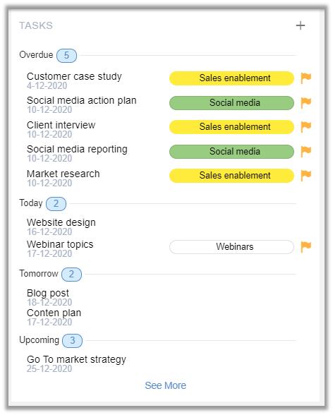 eXo Platform 6: Task Management Quick Access