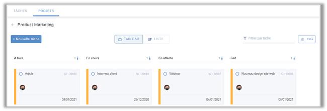 eXo Platform6.1: Aperçu Projet de l'application de gestion des tâches