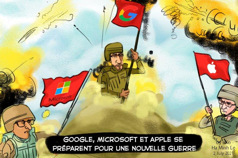 Google, Microsoft, Apple