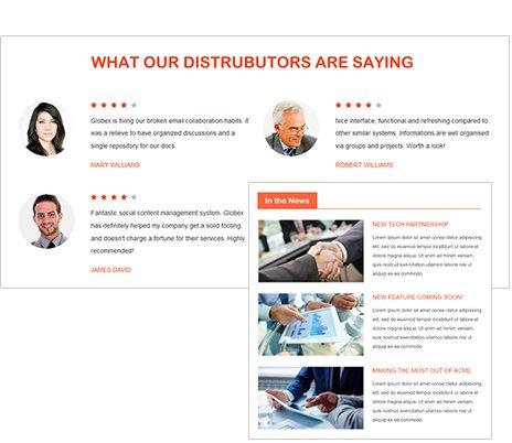 Portail partenaires pour gestion de contenu