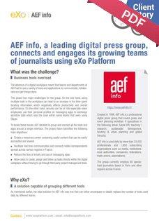 Case study AEF info